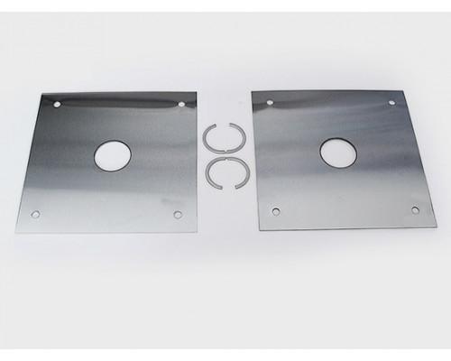 Пластина монтажная нержавеющая сталь под трубу 32мм (отверстие 35,5мм)